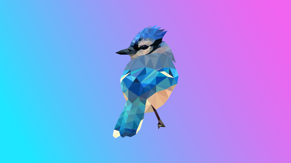 Low Poly Blue Jay Artwork